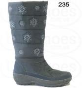 Сапоги женские Паолла П-235 снежинка/черный